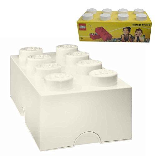 Lego 8 cones White Storage box
