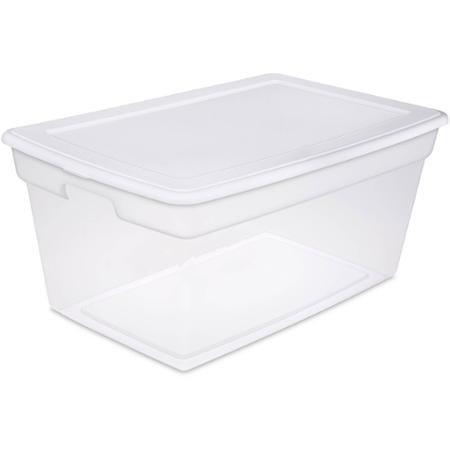 White Sterilite 90 Quart Storage Box - Case of 4 Unit