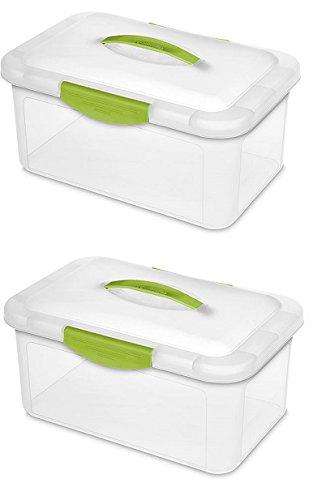 Sterilite 18942206 Medium Showoffs Clear Storage Box - Quantity 2