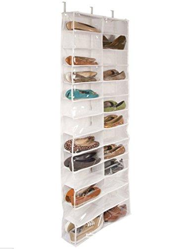 DODOING 26 Pairs Over Door Hanging Shoe Organiser Storage Rack Shelf Holder Stand