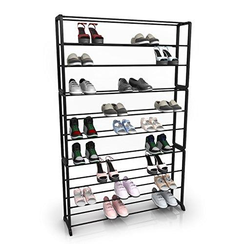 Homdox 10 Tiers Shoe Rack Storage Organizer Shoes ShelfStrong Sturdy Space Saver