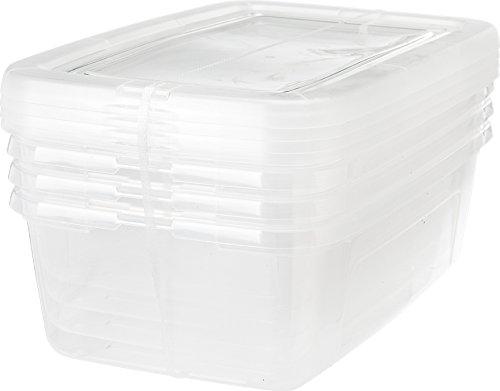 IRIS Clear Plastic Storage Box Shoe Boxes MCB-34 6PK