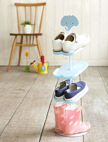 Addfun Kid Shoe RackCreative Floor Style Rotating Shoe Storage Rack Three Dimensional Cartoon Children s Portfolio Shoe RackElephant