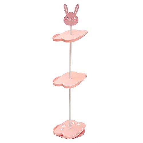 NPLE--4 Tiers Lovely Cartoon Animal Kids Shoe Rack Holder Portable Stand Storage New