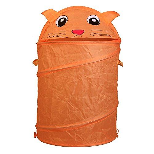 Cartoon Animal Cat Storage Bucket Folding Cylinder Laundry Basket Toy Box