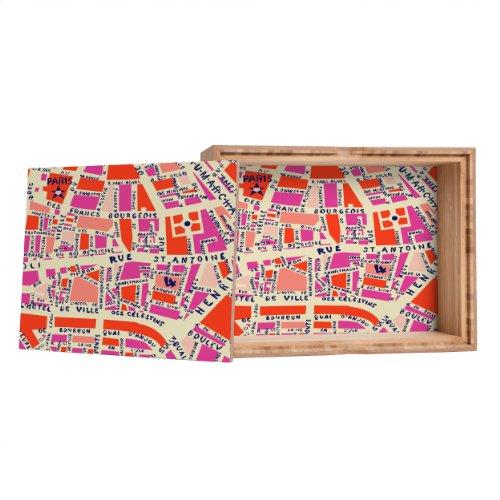 Holli Zollinger Paris Map Pink Storage Box