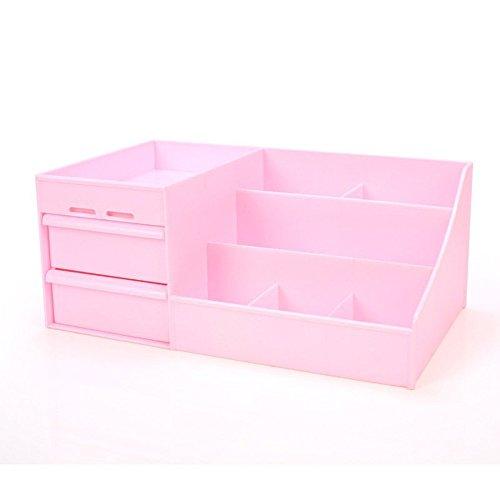 Kasmena Drawer Cosmetics Organizer Large Medium Small Pink Storage Box YC-27 Large