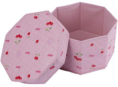 YanCui Home non-woven pink storage box cosmetics  underwear  socks  debris folding storage box 272715cm
