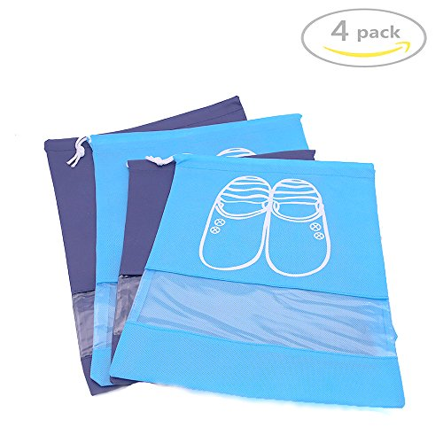 Shindel Travel Shoe BagsSpace Saving Storage Bags4 PCS 2 Large and 2 Middle