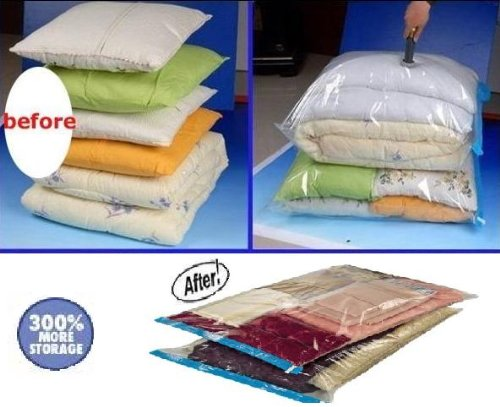 10 PACK Deal JUMBO  Large Space Saver Vacuum Seal Storage Bags Combo with Travel Bags and Carry On Pouch bags