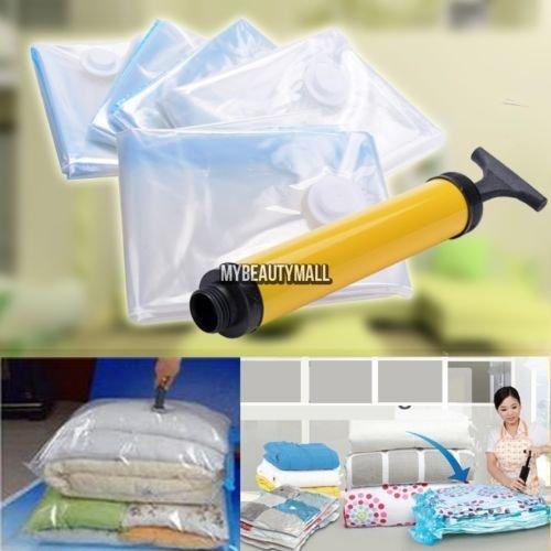 5 PACK JUMBO Space Saver Bags Storage Bag Vacuum Seal Organizer NEW