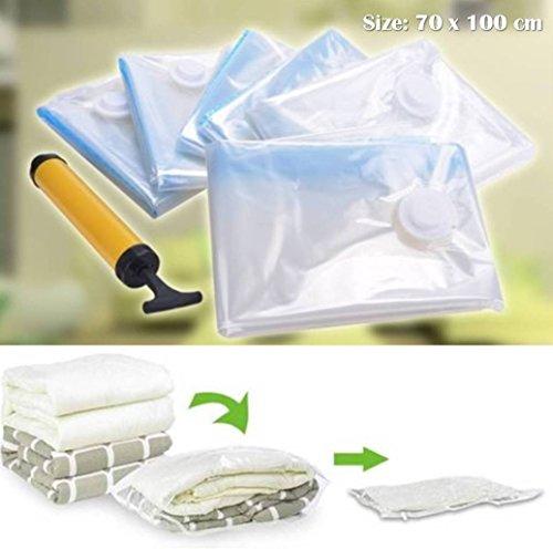 Best Offer_6 Pack Jumbo Space Saver Bags Storage Bag Vacuum Seal Organizer Sealer 70 x 100 CM