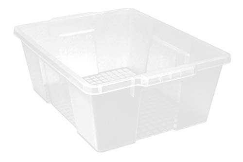 Quantum Storage LC191507CL Clear Plastic Storage Container Bin Pack of 6