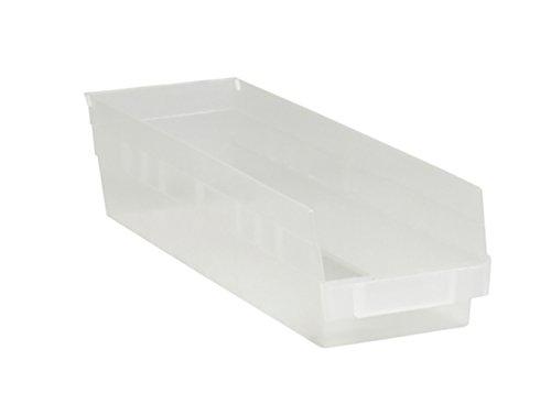 RetailSource BINPS111CL-1 17 78 x 4 18 x 4 Clear Plastic Shelf Bin Box