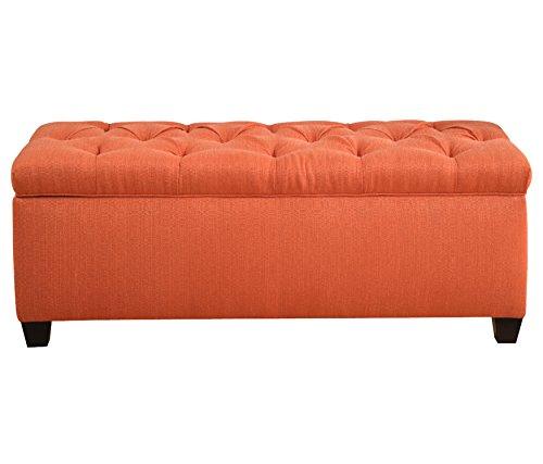 MJL Furniture Designs  Candice Pumpkin Upholstered Storage Bench