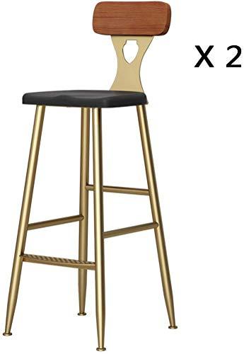 QTQZDD Decorative Bench Nordic Style Bar Chair Vintage Iron Art Bar Chair Clothing Store Armchair Golden Lounge Chair Bar Stool High Bench 65 75 cm Iron A