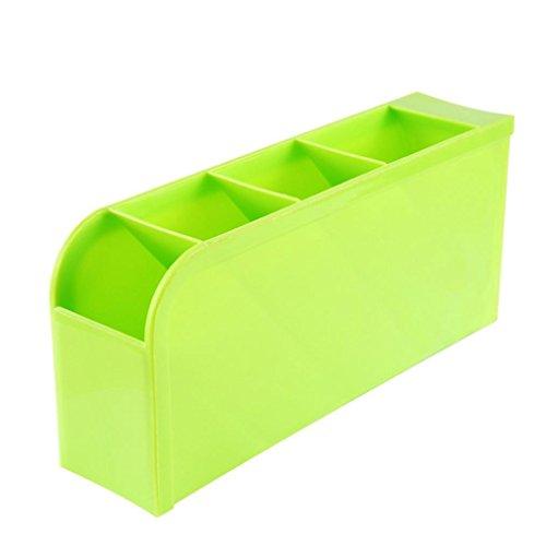 TONSEE Plastic Organizer Storage Box For Tie Bra Socks Drawer Cosmetic Kitchen Green