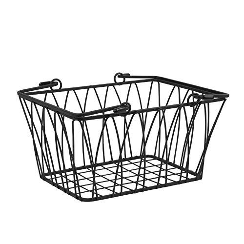 Spectrum Diversified Twist Storage Basket Small Black
