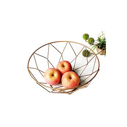 Storage Basket Creative Snacks Candy Basket Desktop Bedroom Kitchen Fruit Basket Decor European Iron Hollow Black Storage BasketJ3