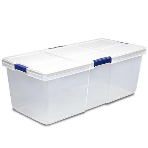 100 Quart Hefty White Storage Bin - 36 L x 168 W x 132 H 1 Bin