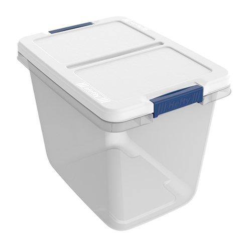 29 Quart Hefty White Storage Bin - 1679 L x 12 W x 1305 H 1 Bin