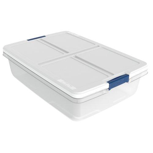 34 Quart Hefty White Storage Bin - 2398 L x 1681 W x 66 H 1 Bin