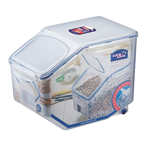 LOCK LOCK Bulk Storage Bins Food Storage Container with Wheels 40577-oz  5072-cup
