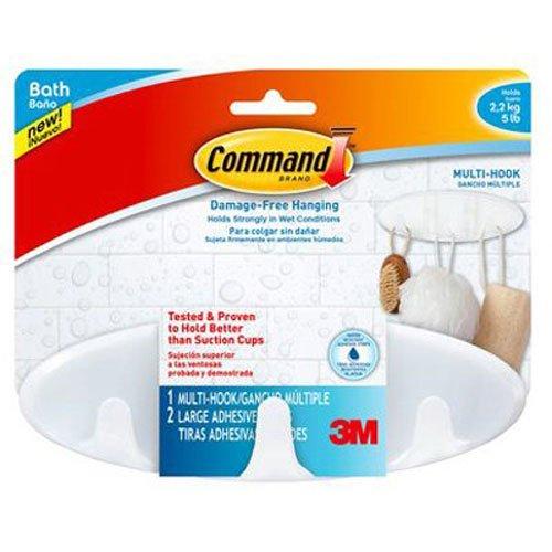 Command Bath Multi-Hook 5-Pound Capacity