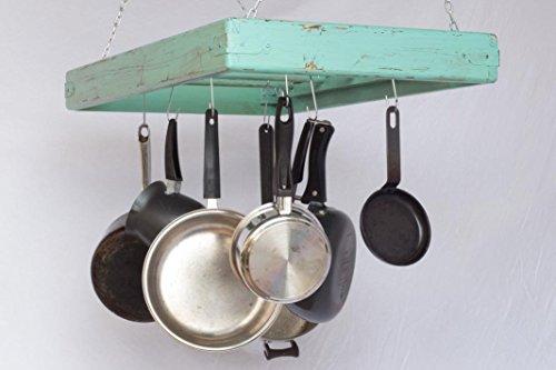 Pot Rack - Ceiling Mounted - Rectangular - Large - 5 Rungs - Hang Kitchen Pots and Pans