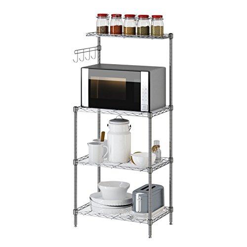 Yontree Stainless Steel Rack Baking Rack Kitchen Storage Oven Shelf Silver 138x217x472 In