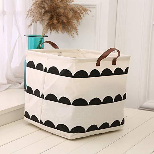 Axgo Cotton Folding Square Storage Basket Laundry Hamper Bag Toy Household Sundries Organizer Barrel S Semicircle Printed