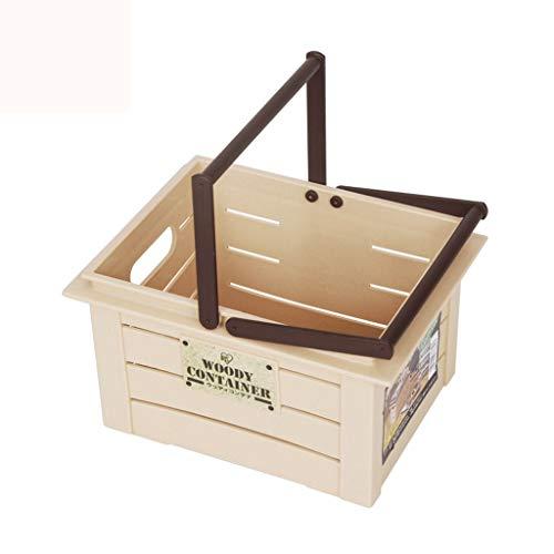 YBYB Laundry Basket Laundry Hamper Square Storage Basket Storage Box Household Goods Storage Basket Small Debris Basket Snack Kitchen Storage Basket Box Orange Color  Orange