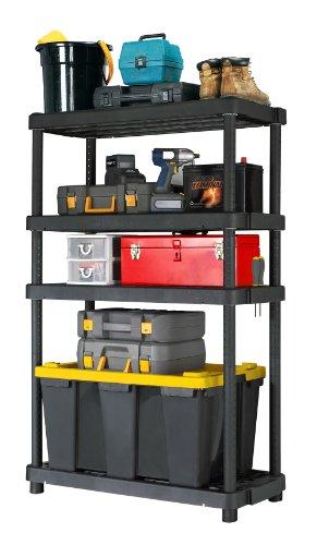Adjustable 4-Shelf Heavy Duty Shelving Unit