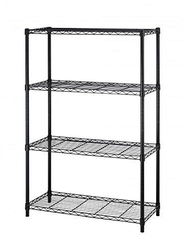 36x14x54 Commercial 4 Tier Layer Adjustable Wire Shelving Metal Shelf Rack Black