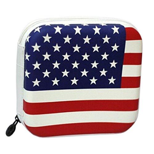 Video Media OrganizeCase CDDVD Storage Boxes CD WalletBags Protector USA Flag