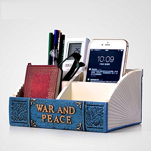 creative books storage boxresin household debris inductive boxdesktop decorations-blue