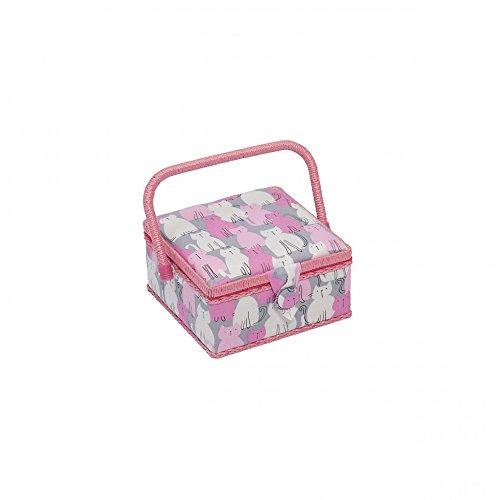 Hobby Gift Modern Kitty Small Craft Storage Box Pink