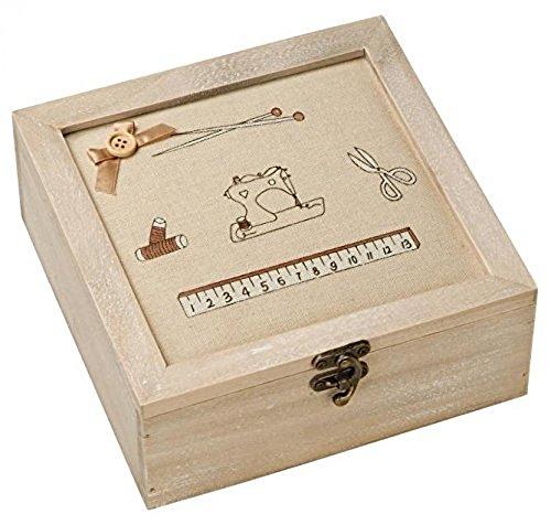 Prym Classic Wooden Craft Storage Box Natural