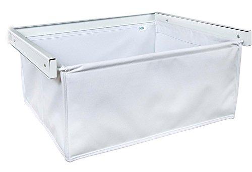 Organized Living freedomRail Reveal Canvas Basket - White