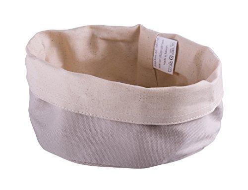 Paderno World Cuisine 42875-17 Round Canvas Bread Basket Beige