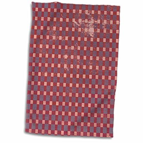 3dRose PS Vintage - Vintage Style Pink Basket Weave Pattern - 12x18 Hand Towel twl_99336_1