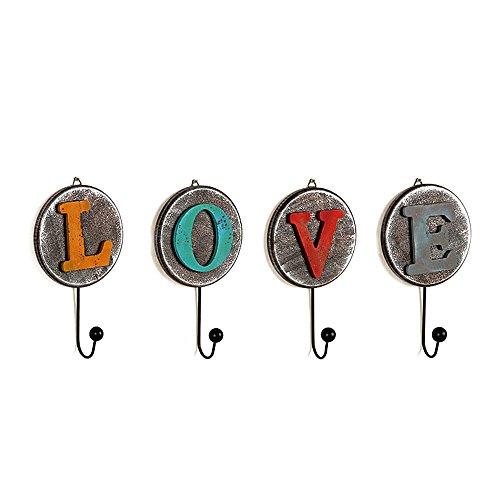 Gorgeousstyles Alphabet Decorative Key Hooks Set of 4