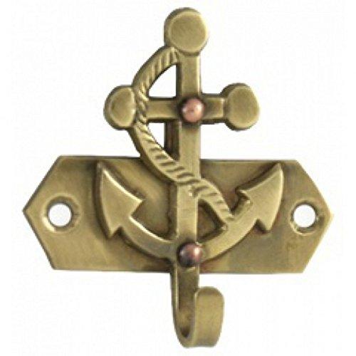 Solid Brass Anchor Key Hook 3 - Brass Anchor Key Hook - Key Hook - Decorative Key Hook - Anchor Decor