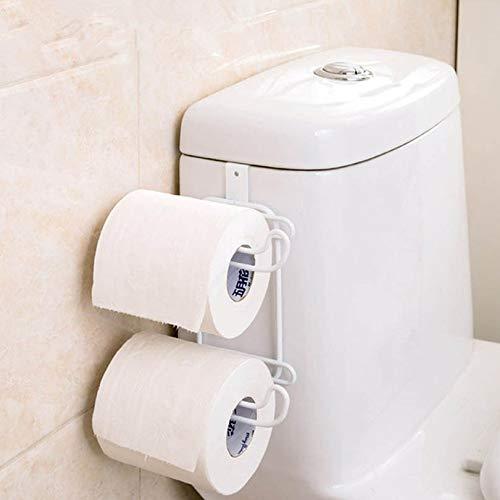 Iron 2 Layers Toilet Roll Paper Hooks Shelf Bathroom Hanging Organizer Kitchen Cupboard Door Towel Holder