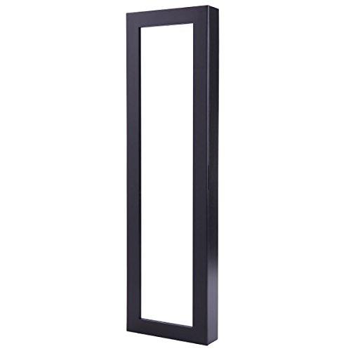 Jewelry Cabinet Over The Door Mirror Armoire Organizer Storage Box Ring Black