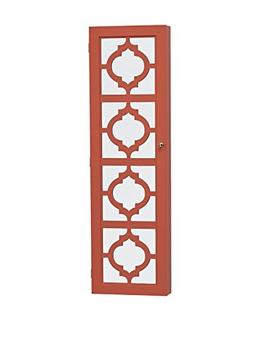 Wall Mount Jewelry Armoire with Mirror Coral Great for Mother Day Gifts