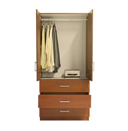 Alta Wardrobe Armoire - 3 External Drawers