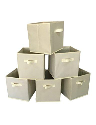 Marvel O Bug Foldable Cloth Storage Basket Set of 6 Beige