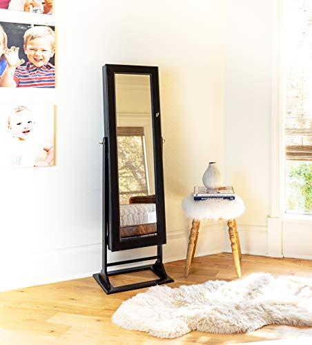 Alveare Home Trista Standing Mirror With Jewelry Storage Espresso