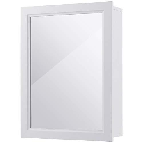 USA_BEST_SELLER Wall Mounted Adjustable Medicine Storage Mirror Cabinet Single Door Functional Design